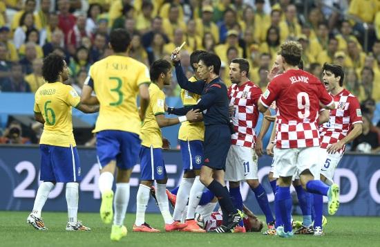 Un'immagine di Brasile-Croazia, finita 3-1 (Infophoto)