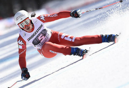 Federica Brignone, 24 anni, qui impegnata nel super-G di Garmisch