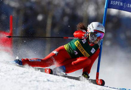 Federica Brignone, 24 anni, qui nel gigante di Aspen dove è stata terza