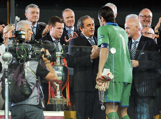 Michel Platini, presidente Uefa (Infophoto)