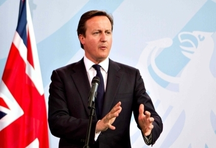 Il premier inglese David Cameron (InfoPhoto)