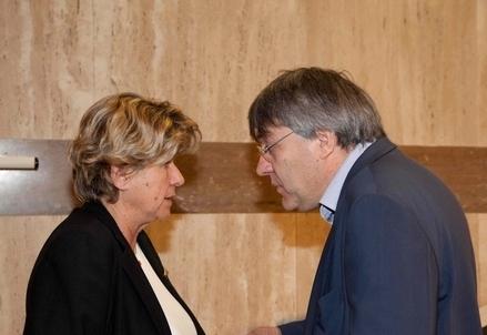 Susanna Camusso e Maurizio Landini (Infophoto)