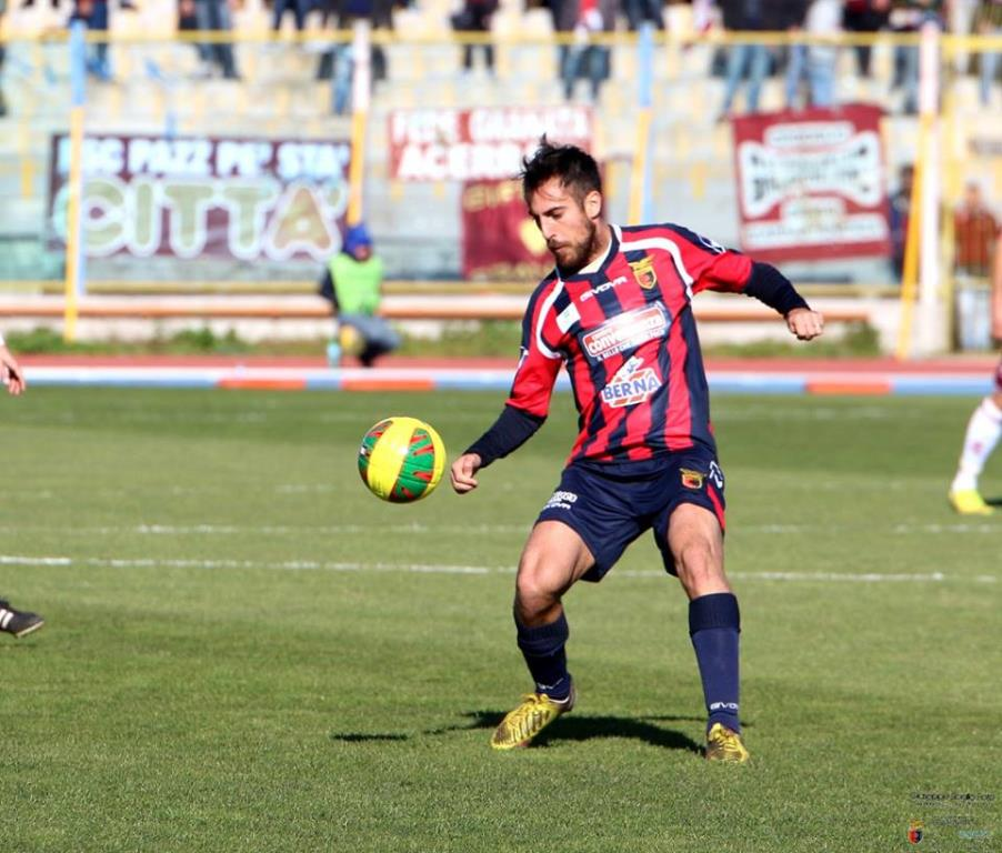 Marco Mancosu, centrocampista della Casertana (dall'account facebook.com/Casertana-FC)