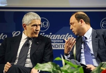 Pier Ferdinando Casini e Angelino Alfano (Infophoto)