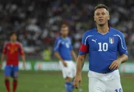 Antonio Cassano, attaccante della Nazionale (Foto Infophoto)