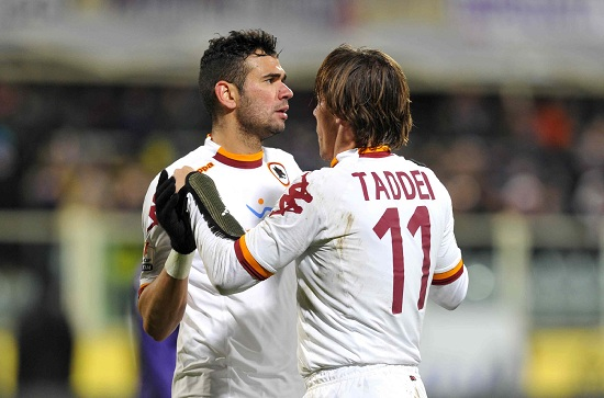 Rodrigo Taddei, centrocampista Roma (Foto Infophoto)