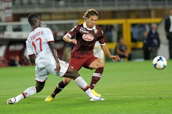 Alessio Cerci ai tempi del Torino contro il Milan (Infophoto)