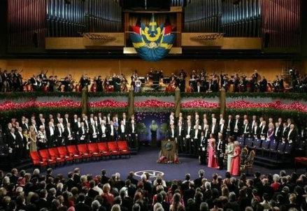 La cerimonia dei premi Nobel