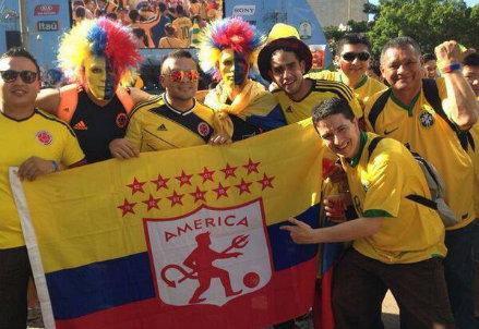 I tifosi della Colombia sono arrivati a Belo Horizonte