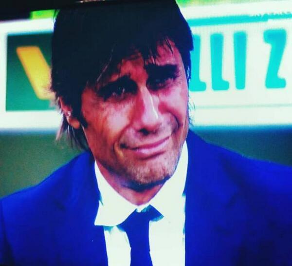 Antonio Conte in lacrime in Fiorentina-Juventus