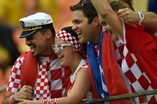 I tifosi della Croazia (Infophoto)