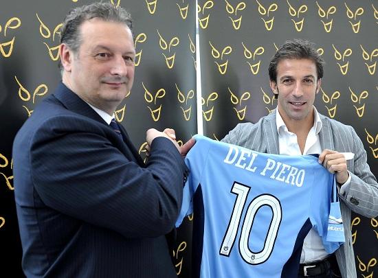 Alex Del Piero con la maglia del Sydney (Infophoto)
