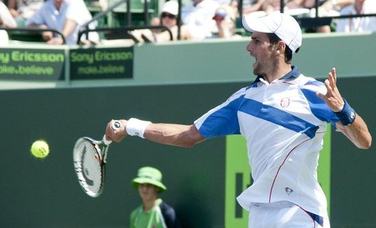 Novak Djokovic a Key Biscaine: è il campione in carica (Infophoto)