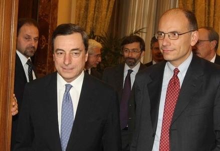 Mario Draghi ed Enrico Letta