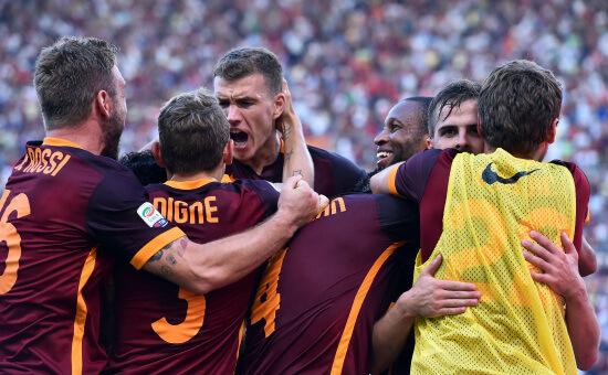 Dzeko, attaccante della Roma (Infophoto)