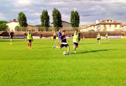 L'Empoli si allena in questo inizio di estate 2014 (Infophoto)