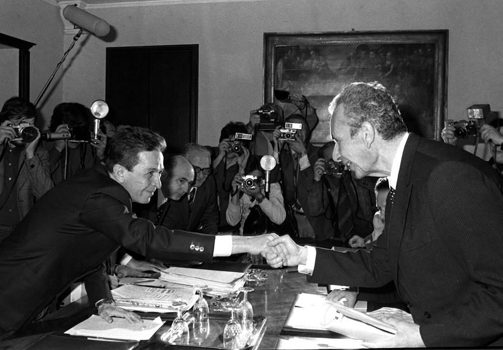 Enrico Berlinguer e Aldo Moro (Immagine d'archivio)