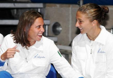 Errani e Vinci saranno le grandi protagoniste della giornata di sport (Infophoto)