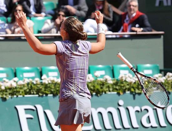 Sara Errani in campo stasera contro Ekaterina Makarova (Infophoto)
