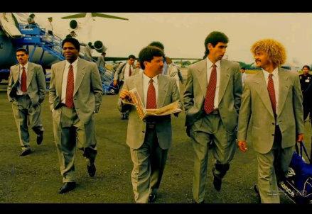 La nazionale colombiana negli anni Novanta. Escobar è il secondo da destra