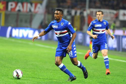 Samuel Eto'o, 34 anni, dal 27 gennaio 2015 alla Sampdoria (Infophoto)