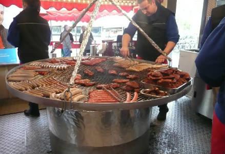 Il chiosco di carne a Francoforte