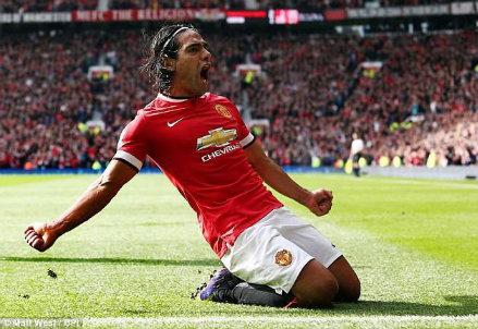 Radamel Falcao, 28 anni: contro l'Everton l'unico gol stagionale (Infophoto)