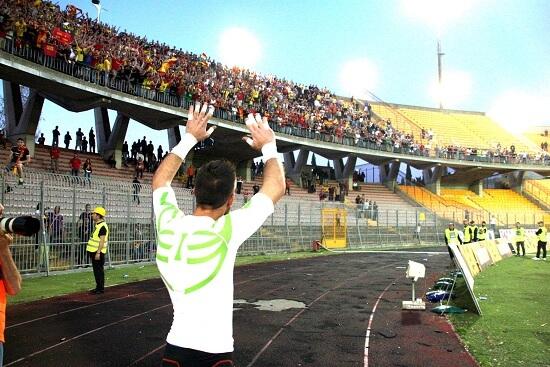 Mariano Bogliacino, 34 anni, centrocampista del Lecce (Infophoto)