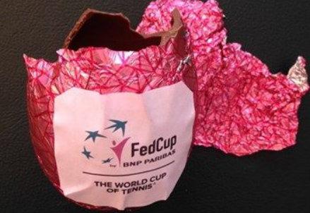 Uovo di Pasqua marchiato Fed Cup