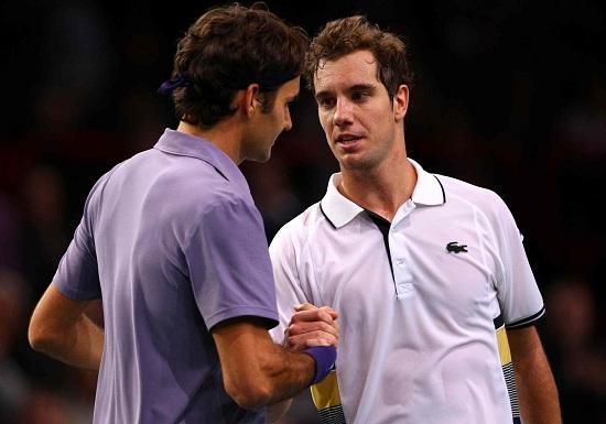Roger Federer e Richard Gasquet: arriveranno a Londra? (Infophoto)