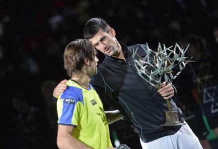 I due finalisti 2013: David Ferrer (lo sconfitto) e Novak Djokovic (il campione)