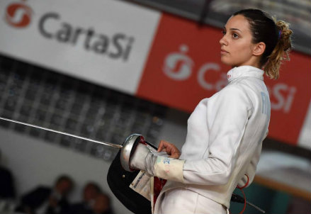 Rossella Fiamingo, 23 anni: oro nella spada individuale (Infophoto)