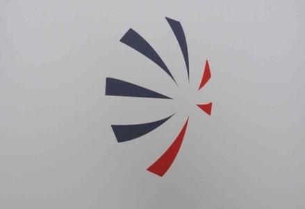 Il logo di Finmeccanica (Infophoto)