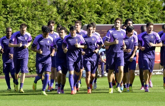 La Fiorentina al lavoro (Infophoto)