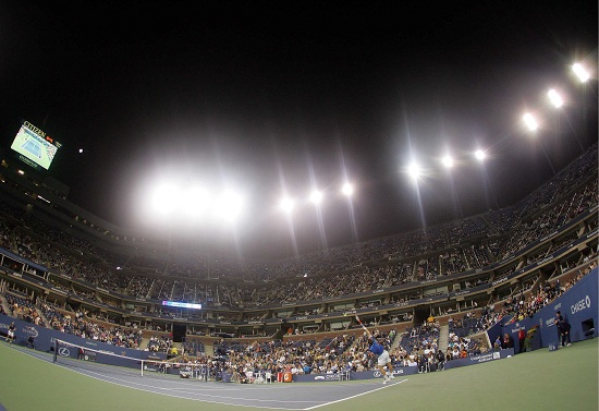 L'Arthur Ashe Stadium, campo centrale di Flushing Meadows (Infophoto)