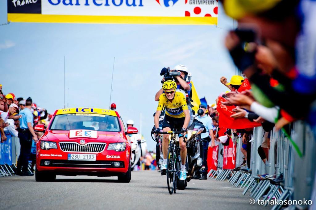 Chris Froome, maglia gialla 2013 (Infophoto)