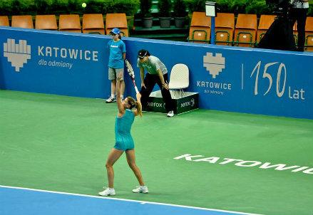 Camila Giorgi, 23 anni, alla terza finale WTA (dall'account ufficiale facebook.com/KatowiceOpen)