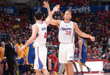 JJ Redick e Blake Griffin allo Staples Center