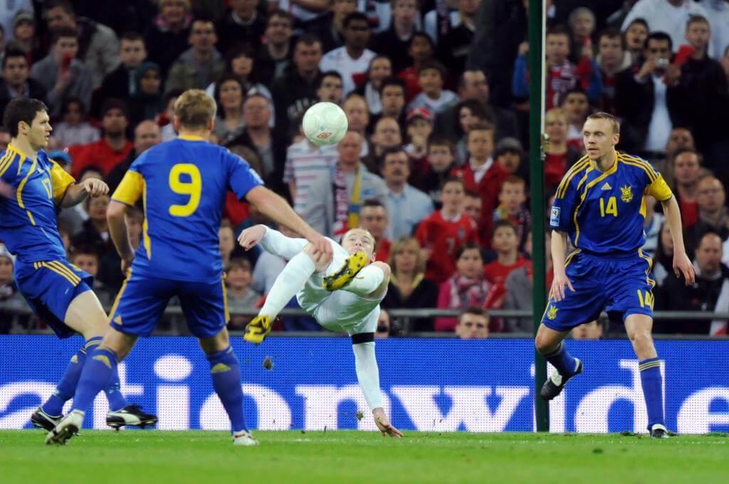 Un'immagine dell'ultima gara giocata tra Inghilterra e Ucraina (Infophoto)
