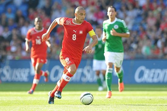 Gokhan Inler, 29 anni, 72 presenze e 6 reti con la nazionale svizzera (INFOPHOTO)