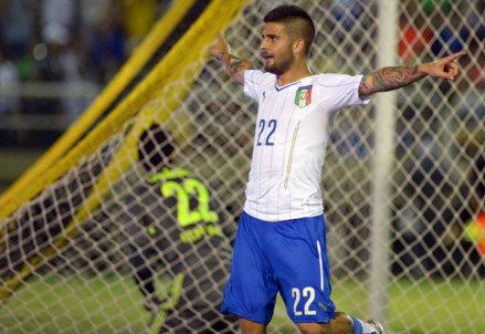Lorenzo Insigne, doppietta per lui contro la Fluminense