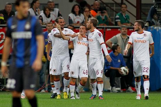 Immagine dallo scorso anno: Inter-Roma 1-3 (Infophoto)