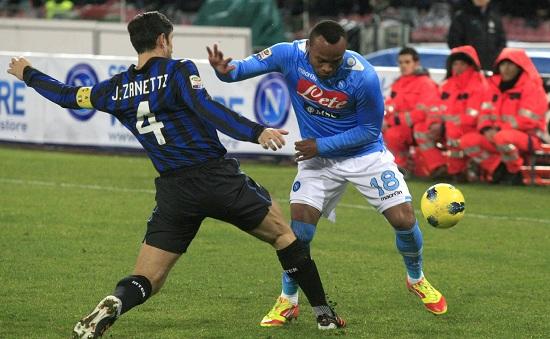 Zuniga contro Javier Zanetti: questa sera Inter-Napoli (Infophoto)