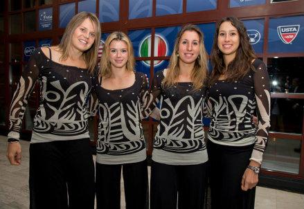 Karin Knapp (26), Camilia Giorgi (22), Alice Matteucci (18) e Nastassja Burnett (21)
