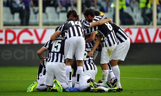 Un'esultanza della Juventus (Infophoto)