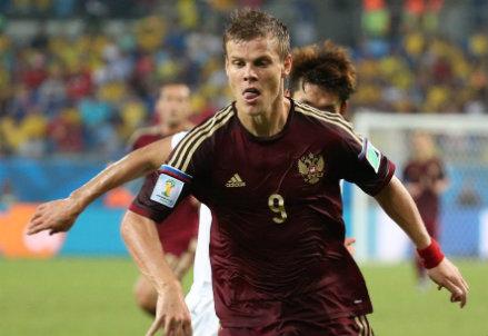 Aleksandr Kokorin, 23 anni, attaccante della Russia (Infophoto)