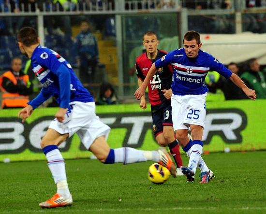 Nenad Krsticic, centrocampista serbo della Sampdoria (Infophoto)