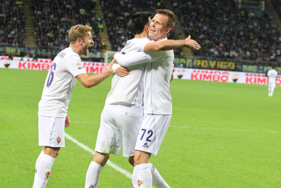Kalinic, attaccante Fiorentina (Infophoto)