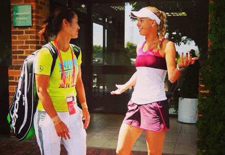 Na Li con Caroline Wozniacki: una delle tante foto postate dalle colleghe della cinese