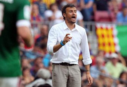 Luis Enrique, 44 anni, allenatore del Barcellona (INFOPHOTO)